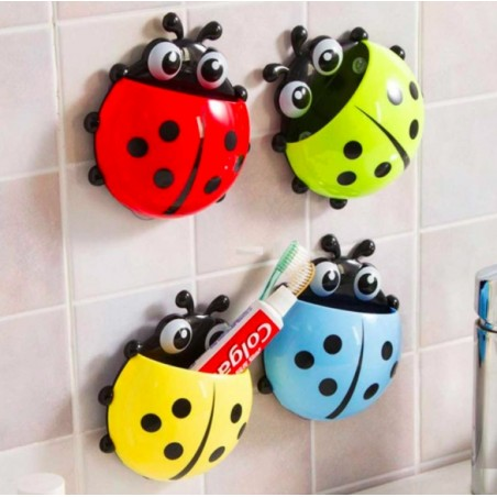 Cute Ladybug Sucker Toothbrush Holder