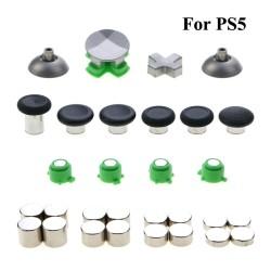Metalen knoppen - duimgrepen - analoge stick - D-Pad-knop - vervangende onderdelen - voor PS5 Controller Gamepad