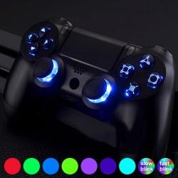 Multi-kleuren verlichte D-pad - thumbsticks - DTF-knoppen - LED - kit voor PS4-controller
