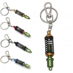 Car shock absorber - metal keychain