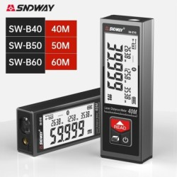 SNDWAY - digitaler Laser-Entfernungsmesser - LCD - 40M / 50M / 60M