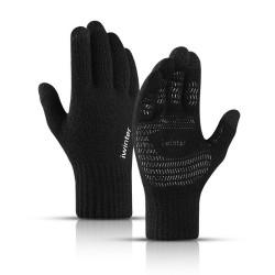 Warme elastische Winterhandschuhe - Mütze - Sturmhaube - Touchscreen-Fingerspitzen - rutschfest - Unisex