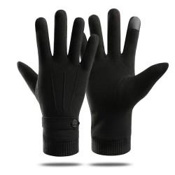 Elegante warme Handschuhe - Touchscreen-Funktion - mit Zierknopf