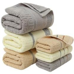 Luxurious large bath / face / hand towel - cotton - 70 * 140cm - 3 pieces set
