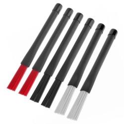 Jazz drum sticks - nylon brushes - retractable - with rubber handle - 23cm - 2 pieces