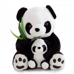 Mother panda with a baby panda - plush toy - 25 cm