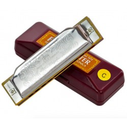 Suzuki Folkmaster 1072-C 20 Hole Beginner Mouth Harmonica