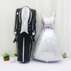 Groom & Bride Wedding Balloon Marriage 57*118cm 2pcs