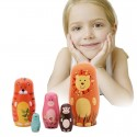 Wooden Russian Matryoshka Nesting Dolls 5Pcs