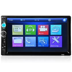 Bluetooth autoradio - DIN 2 - 7'' Inch LCD touchscreen - MP3-MP5 speler - USB - MirrorLink
