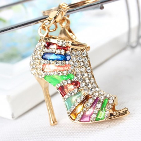 Crystal High Heel Shoe Pendant Keyring