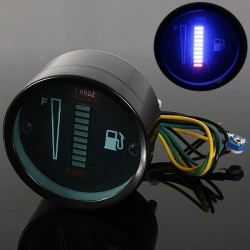 10 LED 12V Motorcycle Car Aluminum Alloy Gauge Fuel Level Sensor