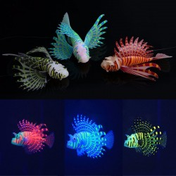 Artificial Silicone Luminous Lionfish Aquarium Tank Decoration