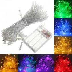 4M 40 LED Battery Operated LED String Xmas Lights