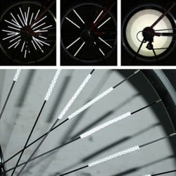 Bike wheel spoke reflective strip light 12 pcs