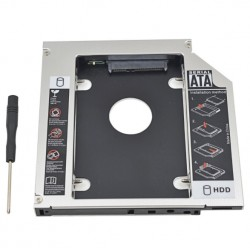 "Universal Aluminum 2nd HDD Caddy 12.7mm SATA 3.0 For 7/9/12.5/9.5mm 2.5"" HDD Box Case Enclosure Optical Bay"