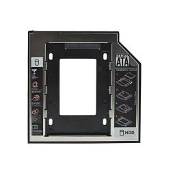 "Aluminum Plastic Universal 2nd HDD Caddy 9.5mm SATA 3.0 2.5"" SSD HDD Case Hard Disk Drive Enclosure ODD Optical Bay"