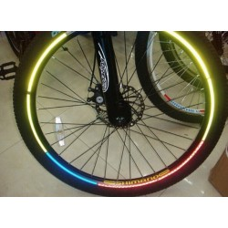 Bicycle wheel rim reflective sticker