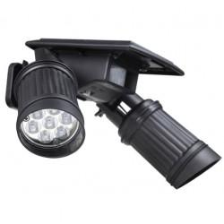 14 LED Solar Lamp PIR Motion Sensor Dual Head Spotlight Waterproof Wall Light