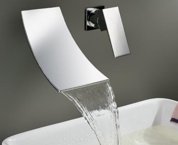 Moderne chroom badkamer wastafel kraan kopen uitverkoop