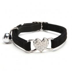Heart Charm & Bell Dog Cat Adjustable Collar*