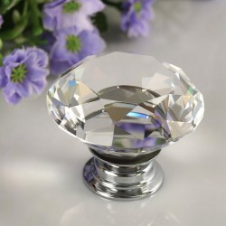 30mm Diamond Crystal Door Drawer Wardrobe Handle Knob
