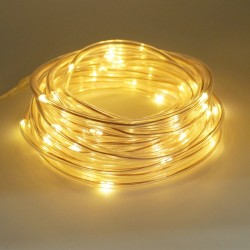 7M 50 LED solar rope tube string lights