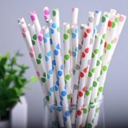 Colorful Polka Big Dot Paper Drinking Straws 25 pcs