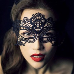 Venetian black lace women's eye mask