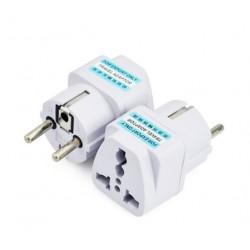 International Travel Universal Adapter Electrical Plug For UK US EU AU to EU European Socket Converter White