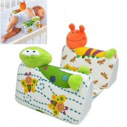 Baby - infant Frog Cartoon anti-roll pillow cushion side sleep positioner