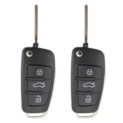Audi 3 Button Replacement Flip Car Key Shell 2pcs