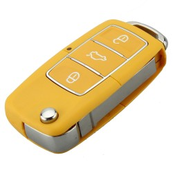 VW Jetta Beetle - 3 button - uncut blade - remote car key case - shell