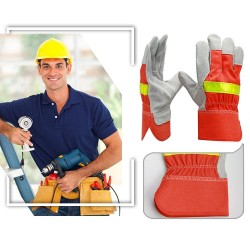 Fire Proof Heat Flame Resistant Protective Gloves With Reflective Strap