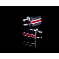 Red Crystal Men's Cufflinks