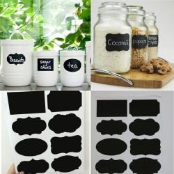 Kitchen Jars Blackboard Stickers 40pcs