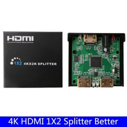 4K HDMI Splitter Amplifier Switch 1 in 2 Converter Adapter