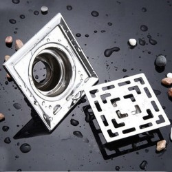 Square stainless steel bathroom floor drain 10 cm * 10 cm
