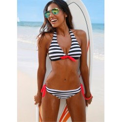 Women's Stripes Swimsuit Bikini Set