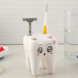 Tooth Style 4 Holes Stand Toothbrush Holder