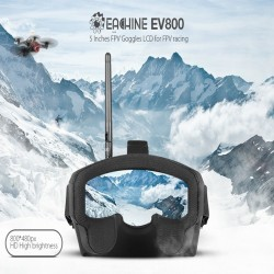 "Eachine EV800 5"" 800x480 FPV Goggles 5.8G 40CH Raceband Auto-Searching Build In Battery"