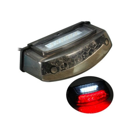 Universal Motorcycle LED Rear Tail Brake Stop Light Number Plate Lamp