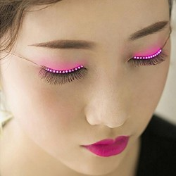 Electronic Eyelid False Eyelashes LED Flash Sticker