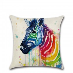 Colorful animals - pillowcase - cushion cover - cotton 45 * 45cm