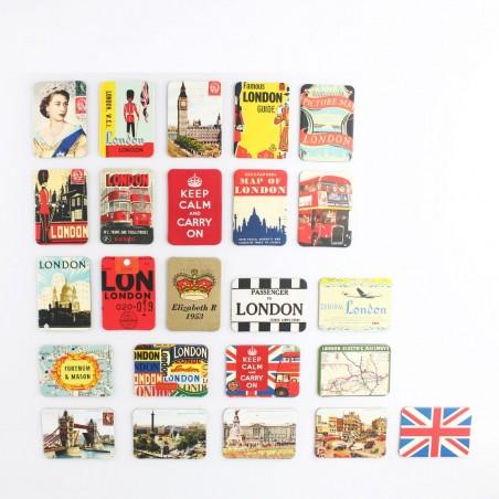 UK England British Style Fridge Magnets Set 24pcs