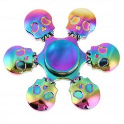 Regenboog Skull Hand Fidget Metalen Spinner |