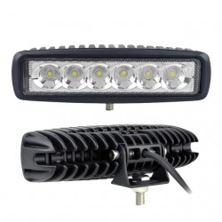 6inch 18W LED Work Light for Indicators Motorcycle Boat Car 4x4 SUV ATV Spot Flood 12V 2pcs