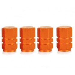 Aluminium Tire Valves Orange 4 pcs