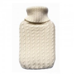 2000ml Filled Hot Water Bottle Flannel Knitting Soft Cover