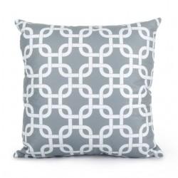 Topfinel Geometric Cushion Cover Cheap Grey Pillow Covers for Puff Sofa Seat Chair Velvet Decorative